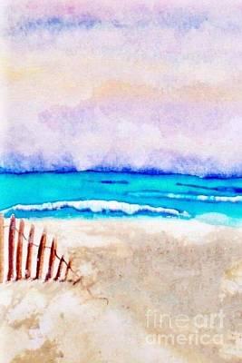 A Sand Filled Beach Art Print by Chrisann Ellis