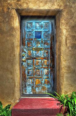 Photograph - A Santa Fe Blue Door by Ken Smith