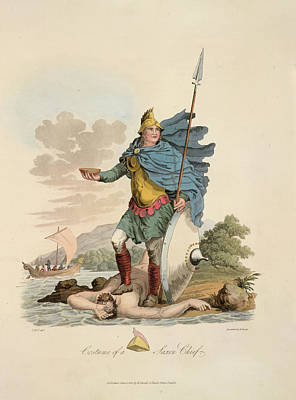 A Saxon Chief Art Print by British Library