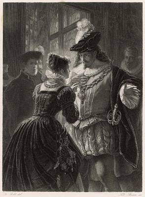 A Scene From Shakespeare's Comedy (or Art Print by Mary Evans Picture Library
