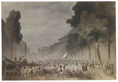 July Painting - A Scene From The July Revolution Of 1830 by Celestial Images