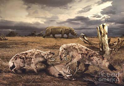 Dead Tree Trunk Digital Art - A Scene From The Oligocene Epoch by Jan Sovak