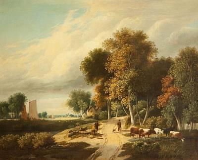 A Scene In Norfolk Art Print by Samuel David Colkett