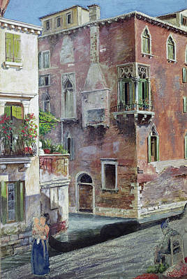 A Scene In Venice Art Print by Sir Caspar Purdon Clarke