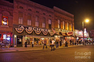 Photograph - A Schwab Beale Street Memphis by Liz Leyden