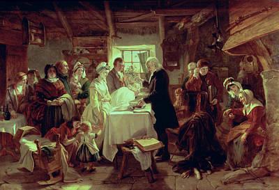 Baptising Photograph - A Scottish Christening by John Phillip