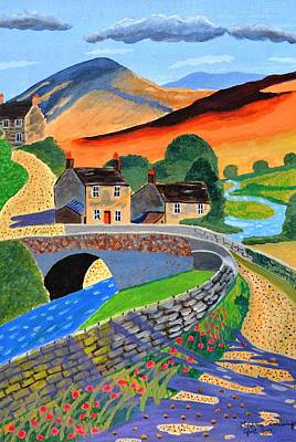 a Scottish highland lane Art Print