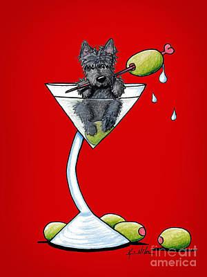 A Scottish Martini Art Print by Kim Niles