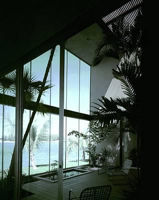 Hallmark Photograph - A Screened Patio by Robert M. Damora