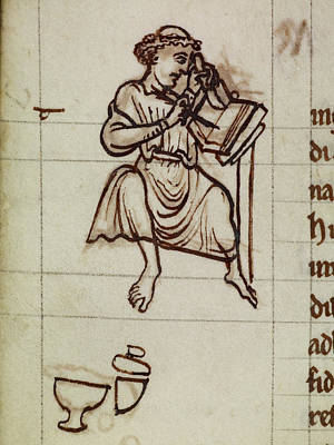 Scribes Photograph - A Scribe by British Library