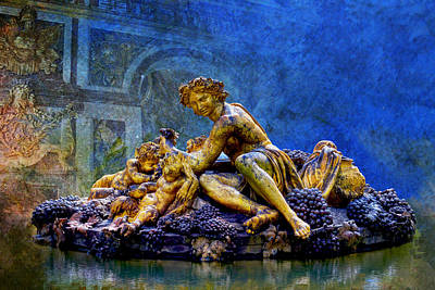 Chartre Painting - A Sculpture From Park Of Versailles by Catf