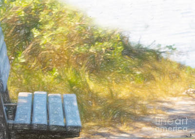 Photograph - A Seat By The Ocean by Sandra Clark