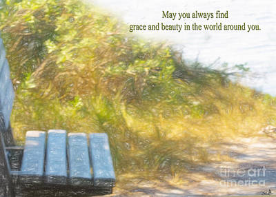 Photograph - A Seat By The Ocean To Observe God's Beauty by Sandra Clark