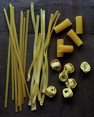 Italian Food Photograph - A Selection Of Uncooked Pasta by Romulo Yanes