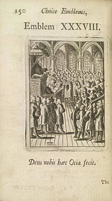 Congregation Photograph - A Sermon by British Library