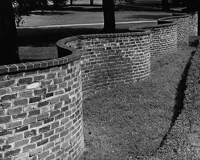 A Serpentine Brick Wall Art Print