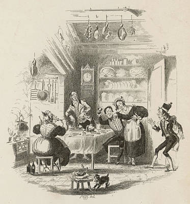 A Servants' Hall At The  Beginning Art Print by Mary Evans Picture Library