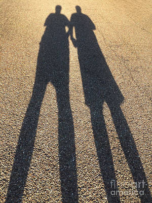 Gravel Road Photograph - A Shadowy Pair by Amy Cicconi
