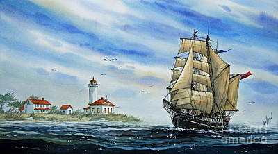 A Ship There Is Art Print by James Williamson