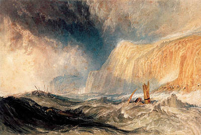 Painting - A Shipwreck Off Hastings by Joseph Mallord William Turner