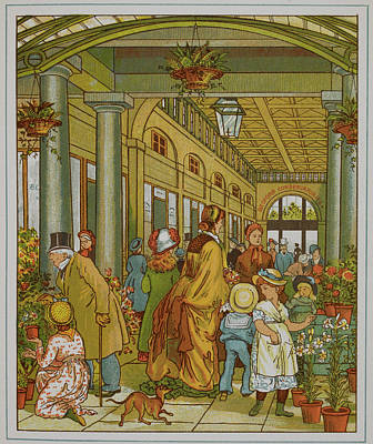 Flowers Shop Photograph - A Shopping Arcade In Covent Garden by British Library