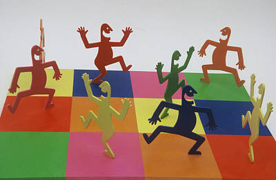 A Shortcut To Happiness - Dancing Art Print by Peter Michel