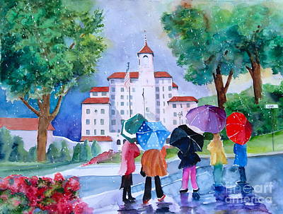 Broadmoor Painting - A Shower At The Broadmoor by Reveille Kennedy