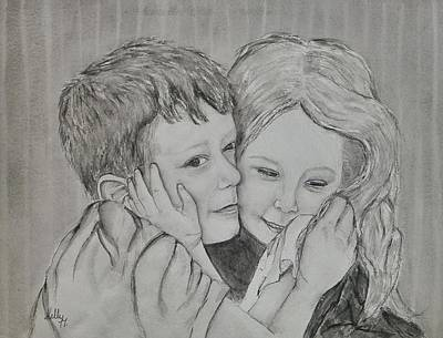 Painting - A Siblings Love   Watercolor by Kelly Mills
