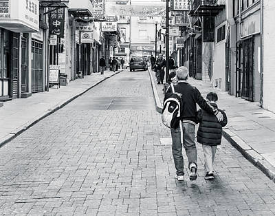 A Side Street In China Town Art Print