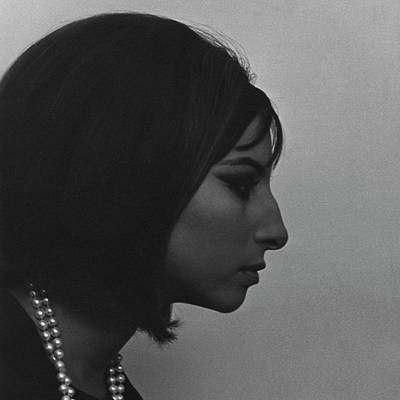 Studio Shot Photograph - A Side View Of Barbra Streisand by Cecil Beaton
