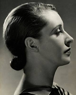 A Side View Of Marion Morehouse Art Print by Nickolas Muray