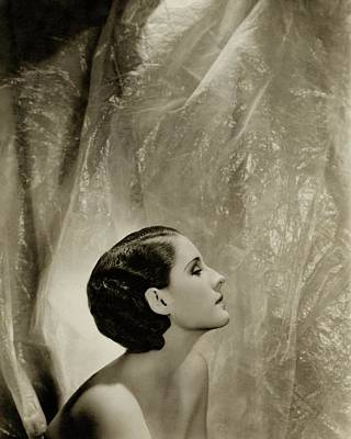 A Side View Of Norma Shearer Art Print by Cecil Beaton