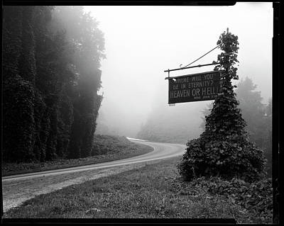 A Sign Covered In Kudzu On Highway 74 Art Print