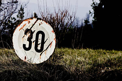 Old Sign Photograph - A Sign by Michael  Bjerg