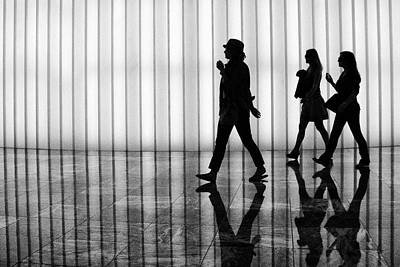 Photograph - A Silhouette Parade by Cornelis Verwaal