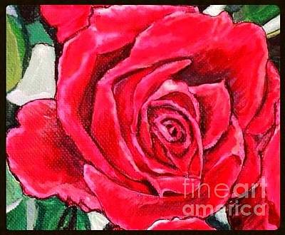 Painting - Roses Are Red Violets Are Blue But A Mother's Love Is The Most True by Kimberlee Baxter