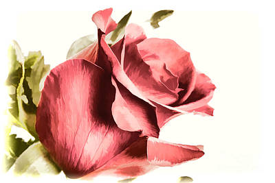 Painting - A Single Red Rose Flower Painting In Color 3187.02 by M K Miller