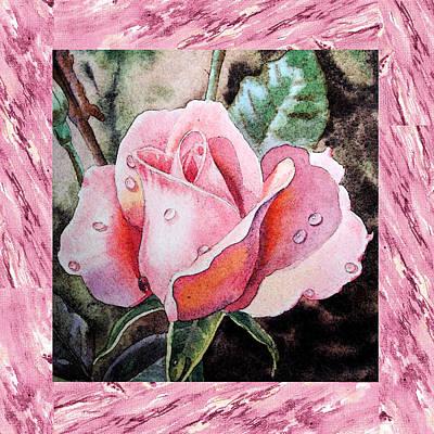A Single Rose Make Me Pink  Art Print by Irina Sztukowski