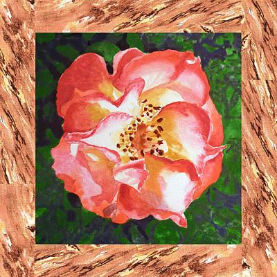 A Single Rose The Dancing Swirl  Art Print by Irina Sztukowski