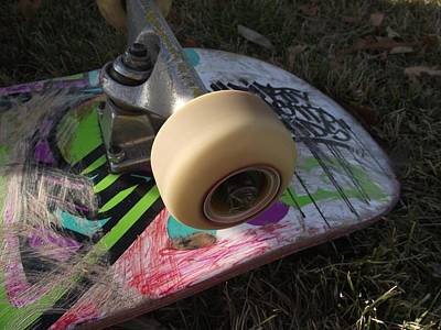 Photograph - A Skateboard's True Colors by James Rishel
