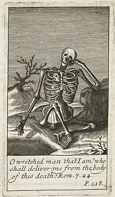 Land Feature Photograph - A Skeleton by British Library