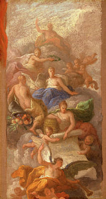 Component Painting - A Sketch Of Gratitude Crowned By Peace, With Other by Litz Collection