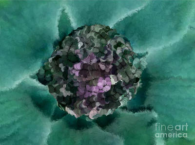 A Sky Full Of Lighters Teal Purple Art Print by Holley Jacobs