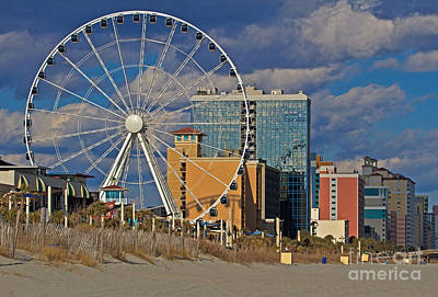 Photograph - A Skywheel Afternoon by Gene Berkenbile