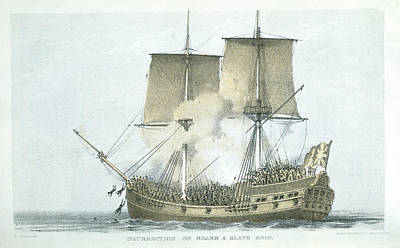 Slaves Photograph - A Slave Ship by British Library