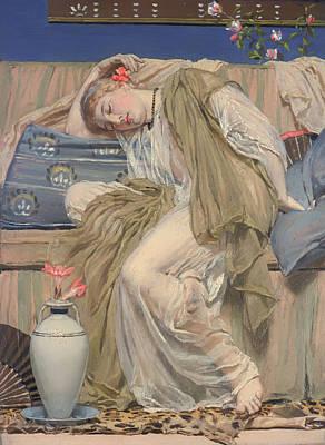 A Sleeping Girl Art Print