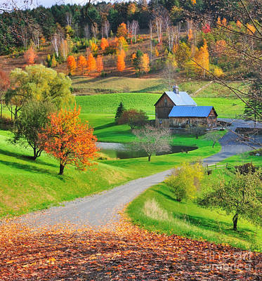 Photograph - Sleepy Hollow Autumn - Pomfret Vermont by Expressive Landscapes Fine Art Photography by Thom