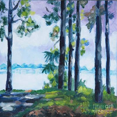 Painting - A Slice Of The Bay by Jan Bennicoff