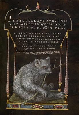 Sloth Painting - A Sloth Joris Hoefnagel, Flemish  Hungarian, 1542 - 1600 by Litz Collection