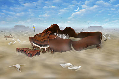 Themes Digital Art - A Slow Death In Piano Valley by Mike McGlothlen